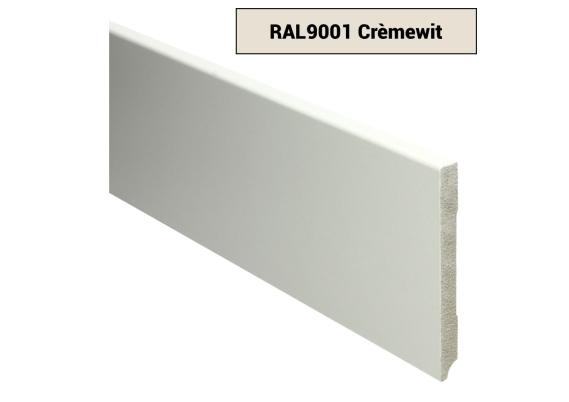 MDF Moderne plint 120x12 voorgelakt RAL 9001