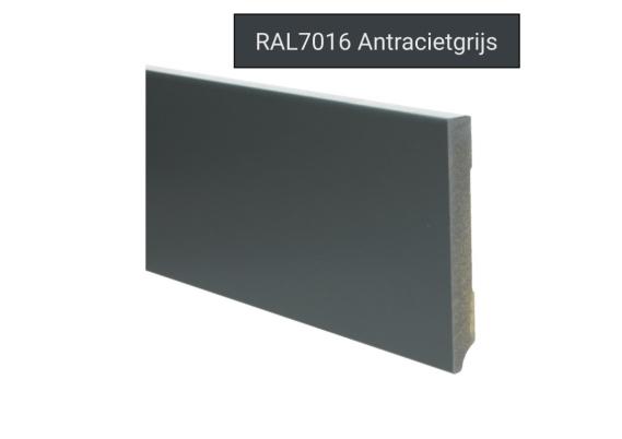 MDF Moderne plint 120x15 voorgelakt RAL 7016