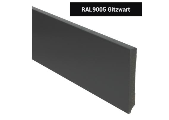 MDF Moderne plint 120x15 voorgelakt RAL 9005