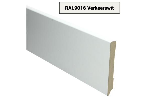 MDF Moderne plint 120x15 voorgelakt RAL 9016