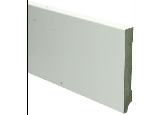 MDF Moderne plint 120x15 wit voorgelakt RAL 9010