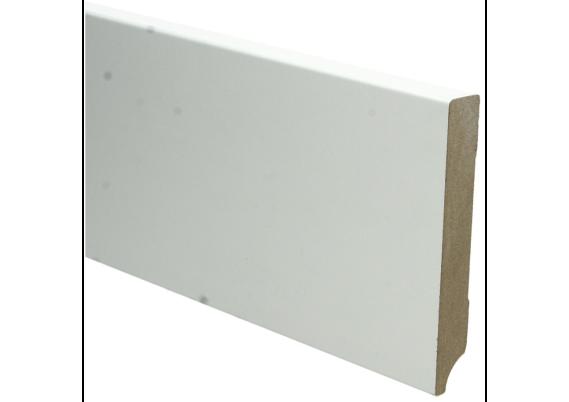 MDF Moderne plint 120x18 wit voorgelakt RAL 9010