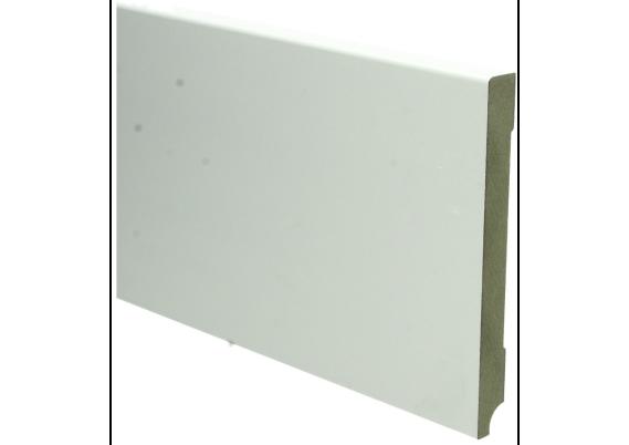 MDF Moderne plint 150x15 wit voorgelakt RAL 9010