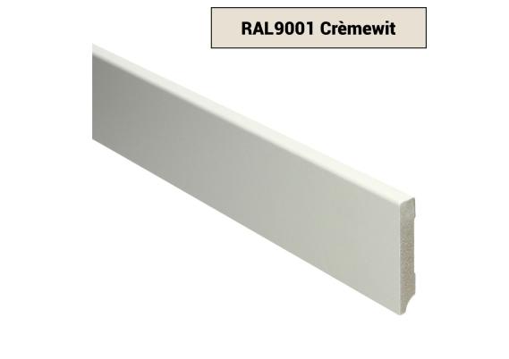 MDF Moderne plint 70x12 voorgelakt RAL 9001