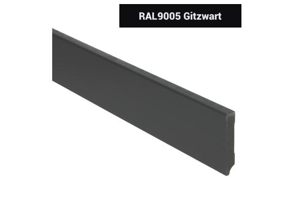 MDF Moderne plint 70x12 voorgelakt RAL 9005
