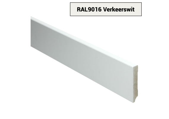 MDF Moderne plint 70x12 voorgelakt RAL 9016