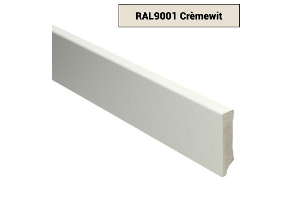 MDF Moderne plint 70x15 voorgelakt RAL 9001