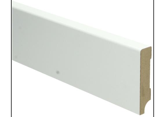 MDF Moderne plint 70x15 wit voorgelakt RAL 9010