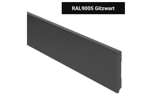 MDF Moderne plint 90x12 voorgelakt RAL 9005