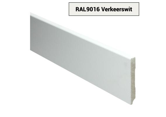 MDF Moderne plint 90x12 voorgelakt RAL 9016