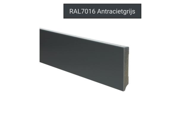 MDF Moderne plint 90x15 voorgelakt RAL 7016