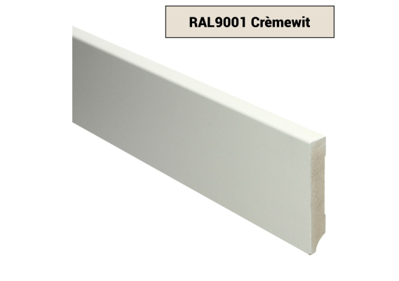 MDF Moderne plint 90x15 voorgelakt RAL 9001