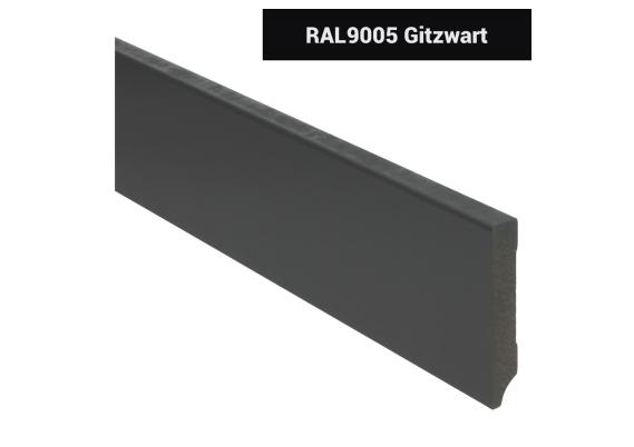 MDF Moderne plint 90x15 voorgelakt RAL 9005