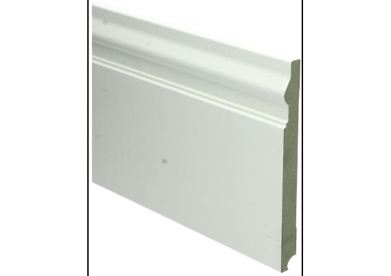 MDF Renaissance plint 190x18 wit voorgelakt RAL 9010