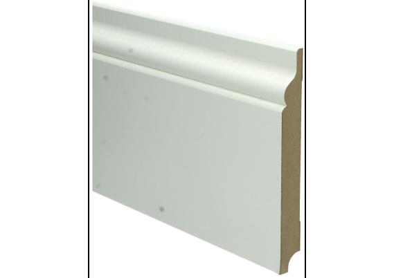 MDF Romantische plint 150x18 wit voorgelakt RAL 9010