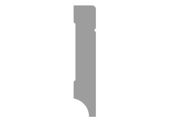 MDF Tijdloze plint 120x15 wit voorgelakt RAL 9010