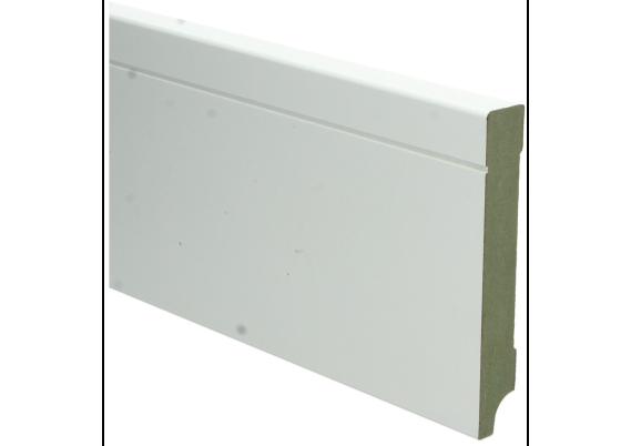 MDF Tijdloze plint 120x18 wit voorgelakt RAL 9010