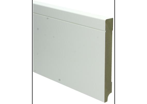 MDF Tijdloze plint 150x18 wit voorgelakt RAL 9010