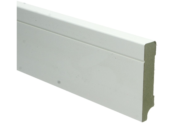 MDF Tijdloze plint 90x18 wit voorgelakt RAL 9010