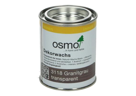 OSMO Decorwas TR3118 Granietgrijs 0,125L