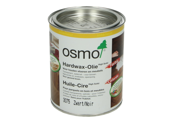 OSMO Hardwax Olie 3075 Zwart 0,75L