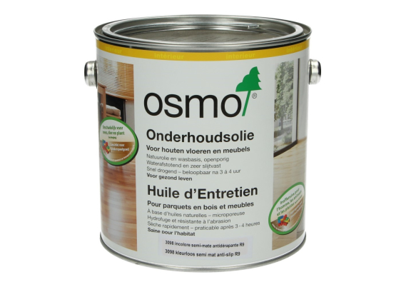 OSMO Onderhoudsolie 3098 Kl. semimat Antislip R9 2,5 L