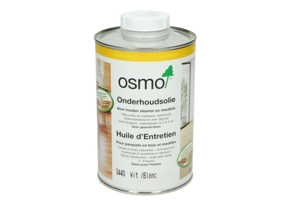 OSMO Onderhoudsolie 3440 Wit transparant 1 L