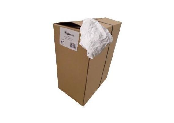 Pluisvrije witte katoenen poetsdoeken (10 kg)