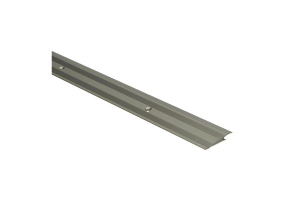 PVC overgangsprofiel schroef 5-7 mm alu RVS