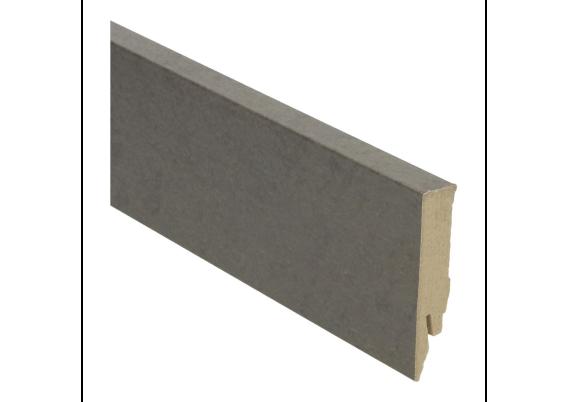 Rechte folieplint 70x14 beton gepolijst donker
