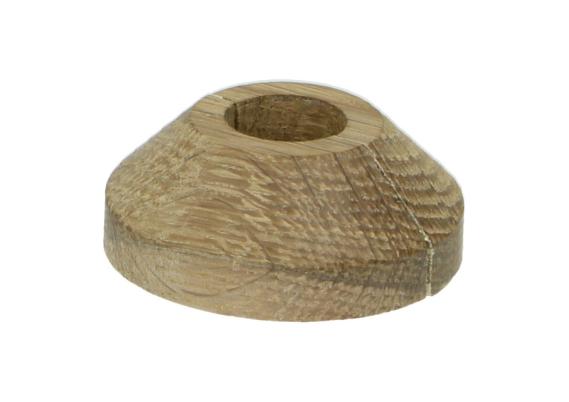 Rozet Ø 16 mm eiken gerookt wit geolied