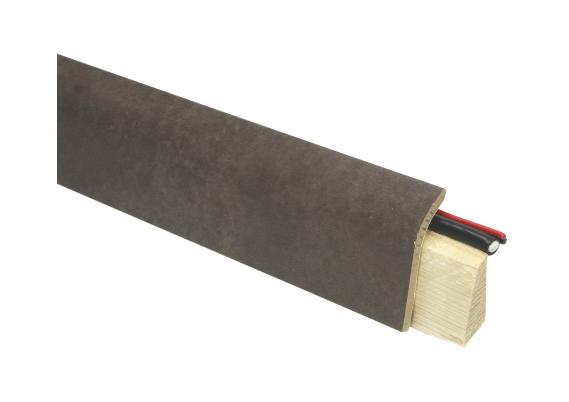Systeemplint met folie beton gepolijst donker