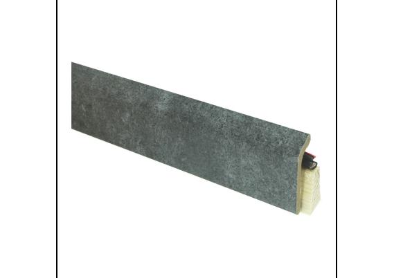 Systeemplint met folie metallic slate
