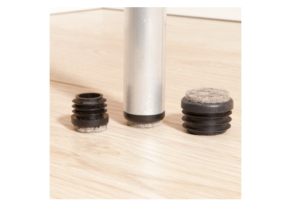 Viltglijder vast vilt ronde holle poten 17-18 mm