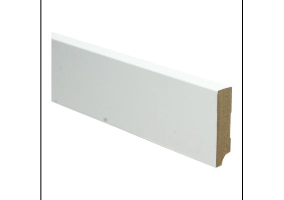 Whiteline plint recht 70x18 wit gefolied