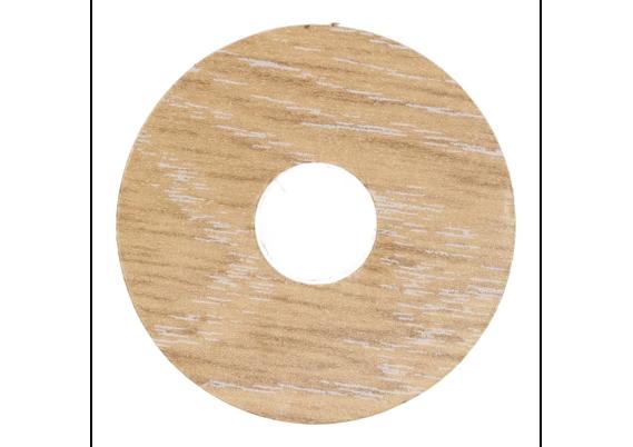 Zelfklevende rozet (17 mm) eiken wit (10 st.)