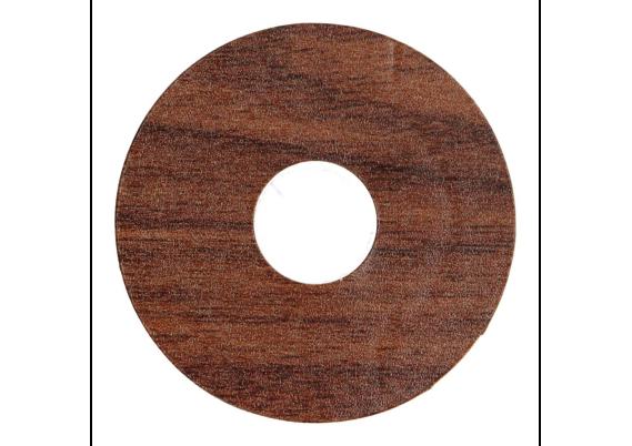 Zelfklevende rozet (17 mm) mahonie (10 st.)