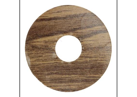 Zelfklevende rozet (17 mm) Verdon Oak brown (10 st.)
