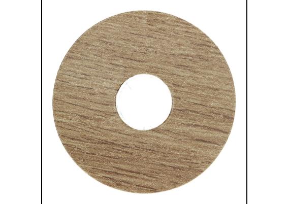 Zelfklevende rozet (17 mm) wit noten (10 st.)