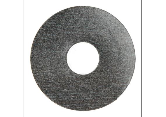Zelfklevende rozet (17 mm) zwart geolied (10 st.)