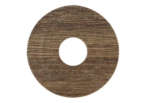 Zelfklevende rozet (17 mm) eiken bruin geolied (10 st.)