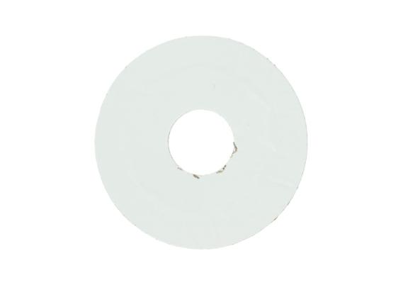 Zelfklevende rozet (17 mm) wit RAL 9016