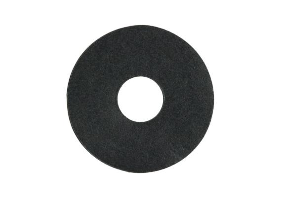 Zelfklevende rozet (17 mm) zwart RAL 9005
