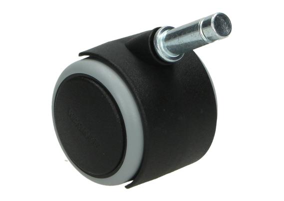 Zwenkwiel zwart 50 mm zacht + stift 10 mm